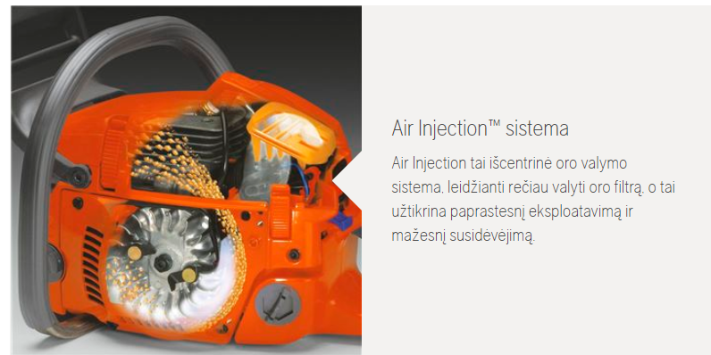 Air injection sistema husqvarna