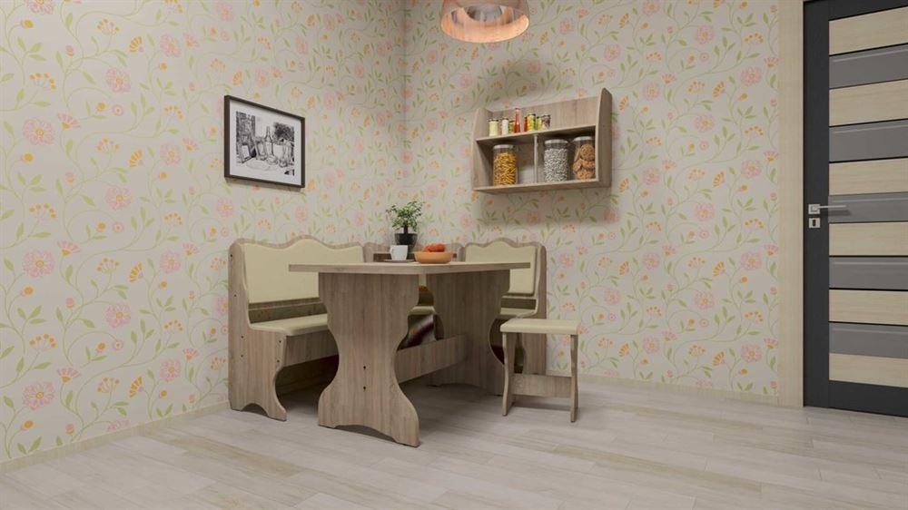 Virtuvės kampas šviesus 150x110cm | Būsto Pasaulis
