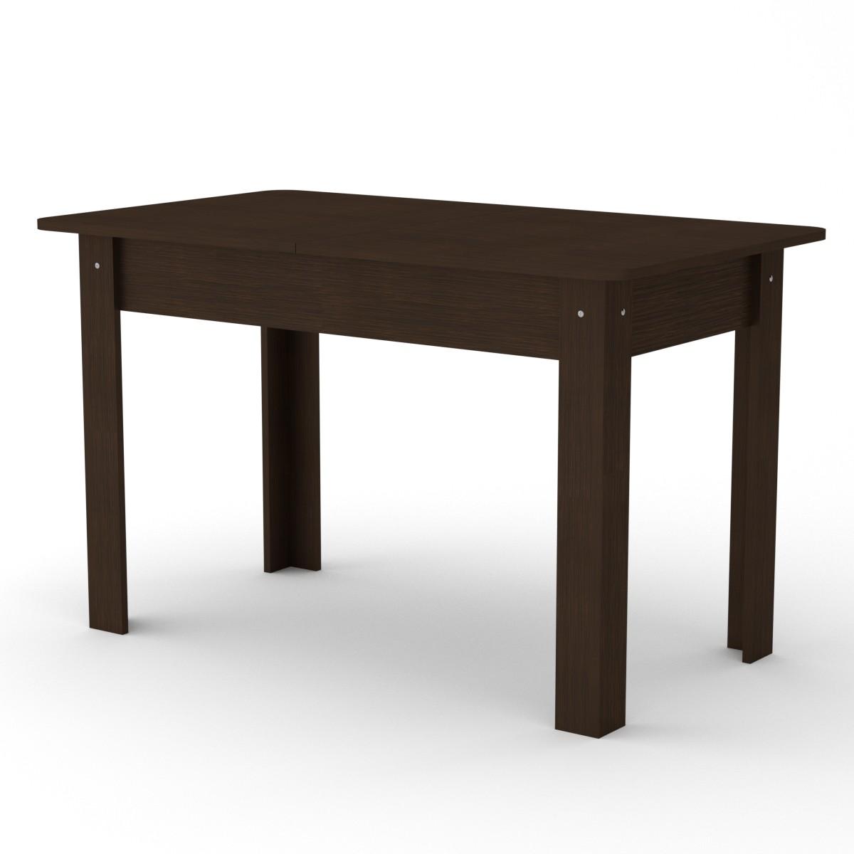 Stalas sudedamas (išskleidžiamas) KC5, tamsus rudas | Būsto Pasaulis